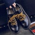 2017 ГОРЯЧИЙ ПРОДАВАТЬ Весна Осень Новый Опрятный Стиль Ретро Британских женщин Леди Pacific Ног Подростков Большой Шнуровкой Обувь Zapatos G558