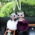 New Pompon porte clef monchichi sleutelhanger 12Colors Rabbit Fur Pom Pom Keychain Bag Charm Key Chains Key Rings Christmas Gift