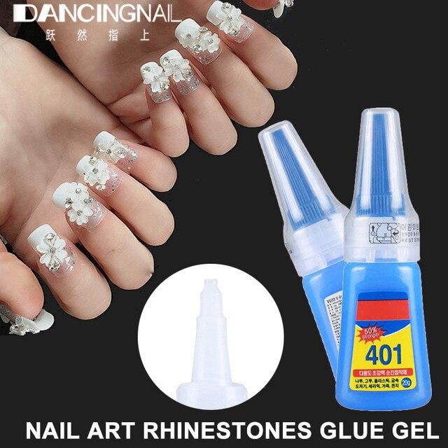20g Nail Art Rhinestone Glue Gel French False Nails Tips Stick Drill ...