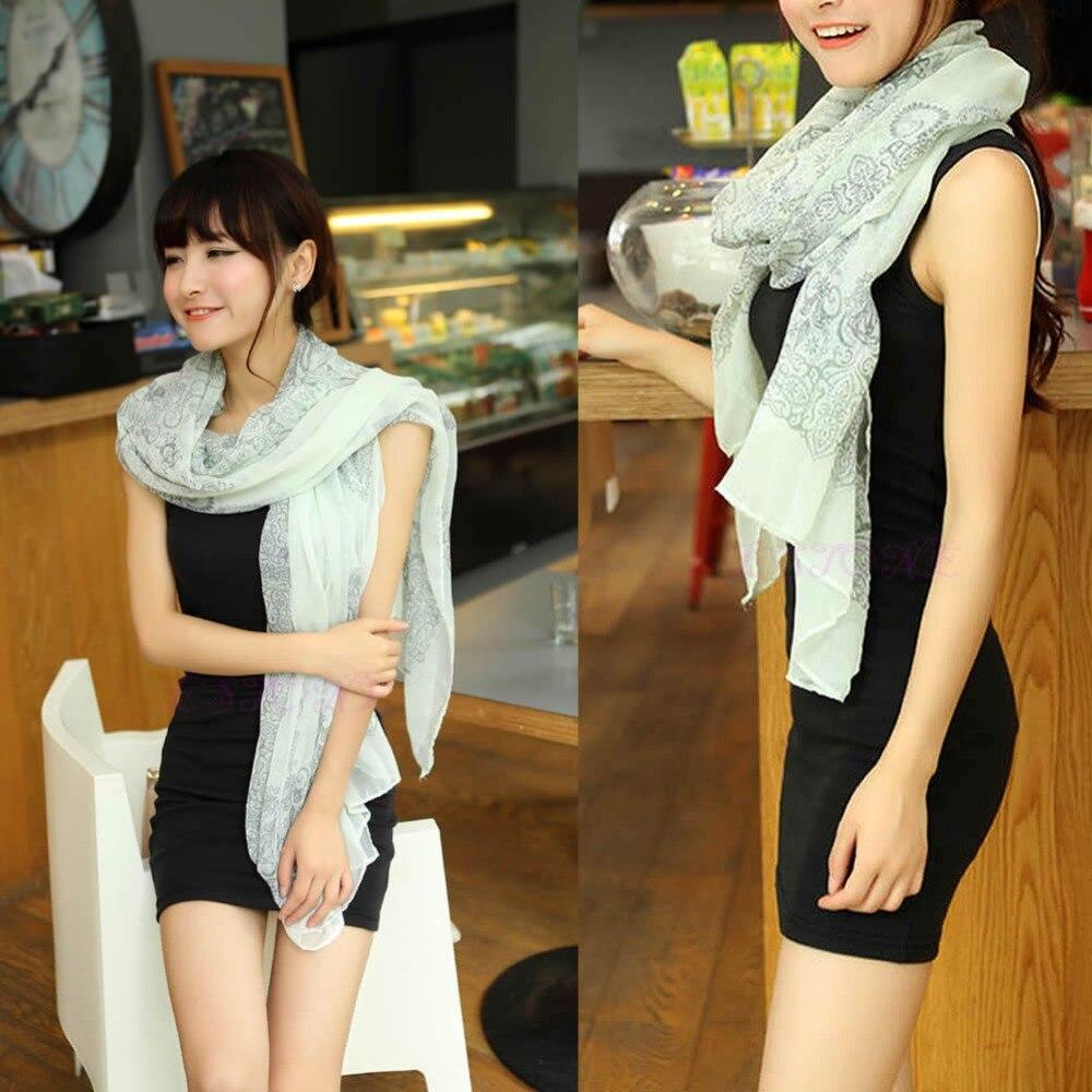 Vintage Women Fashion Pretty Long Soft Chiffon   Scarf     Wrap   Shawl Stole   Scarves