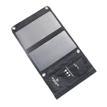 15W Portable Solar Charger Waterproof 5V Solar Panels Dual USB Ports Solar Charger Power Bank for Mobile Iphone JUN12