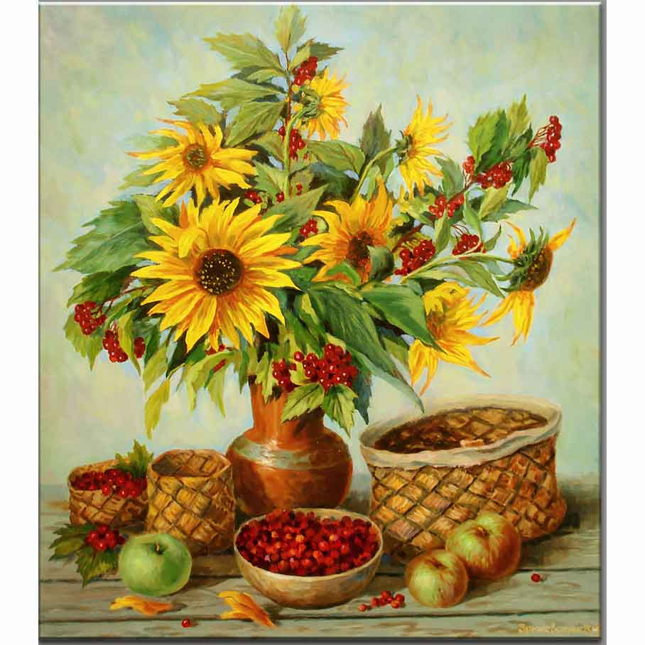online get cheap floral fruit baskets aliexpresscom  alibaba group - diy diamond painting diamond mosaic embroidery colorful sunflower and fruitbasket decorative pictures flower resin cross