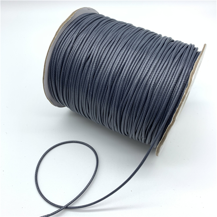 0.5mm 0.8mm 1mm 1.5mm 2mm Grey Waxed Cotton Cord Waxed Thread Cord String Strap Necklace Rope For Jewelry Making|Jewelry Findings & Components|   - AliExpress