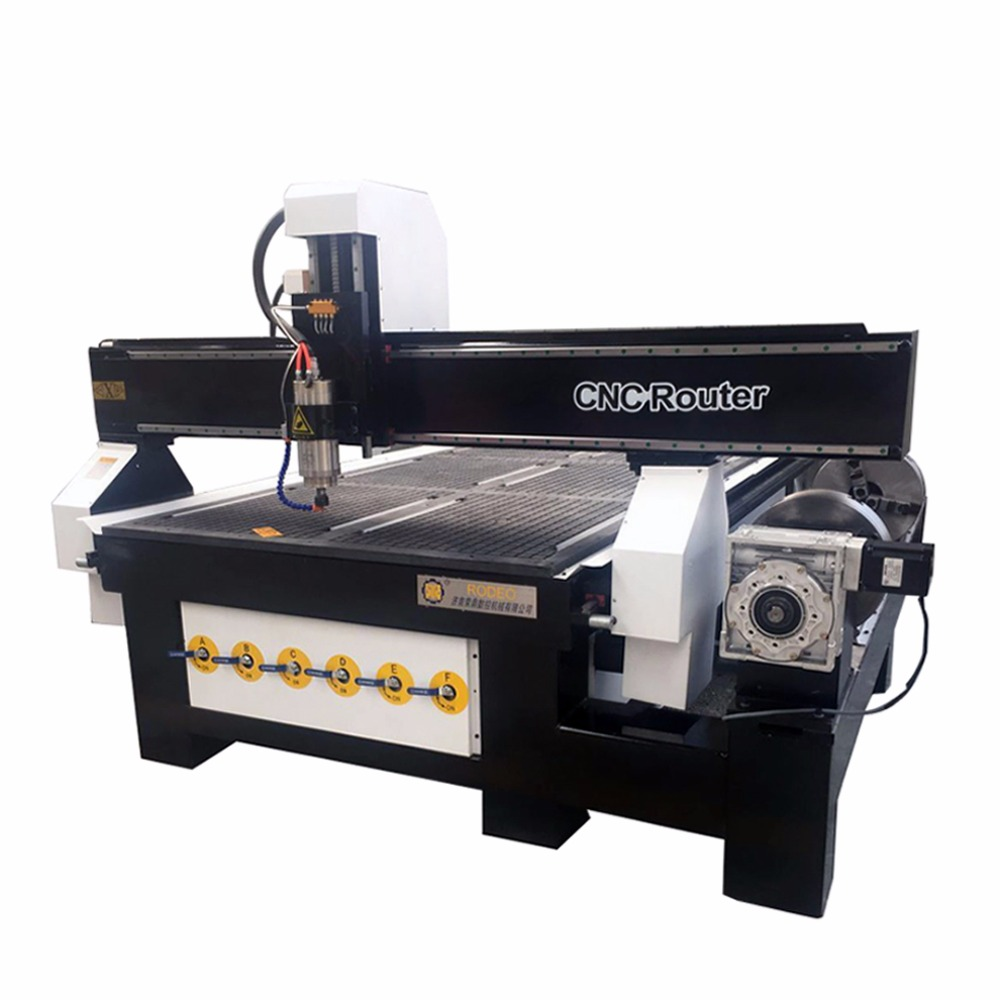 Hot !!! High Precision China Vacuum CNC Router Machine With Cylinder Rotary Cnc Die Board Making Machine