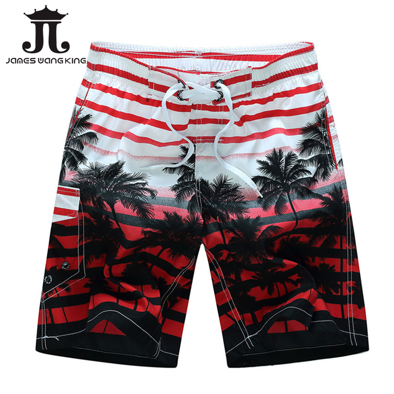 Bermuda Summer 2018 Men Beach Shorts fashion Printing coconut trees BoardShorts Quick-drying shorts for men Plus size M-6XL