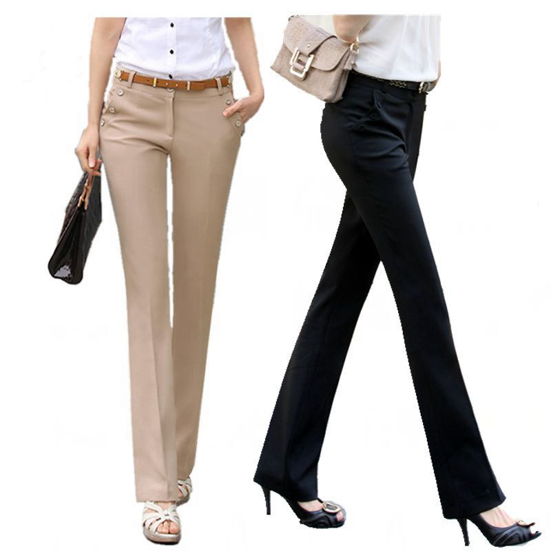 US $14.88 |Plus Size Trousers Women Pants 2018 Spring Summer Casual OL  Formal Harem Pants Women Office Dress Pants Flare Trousers-in Pants &  Capris ...