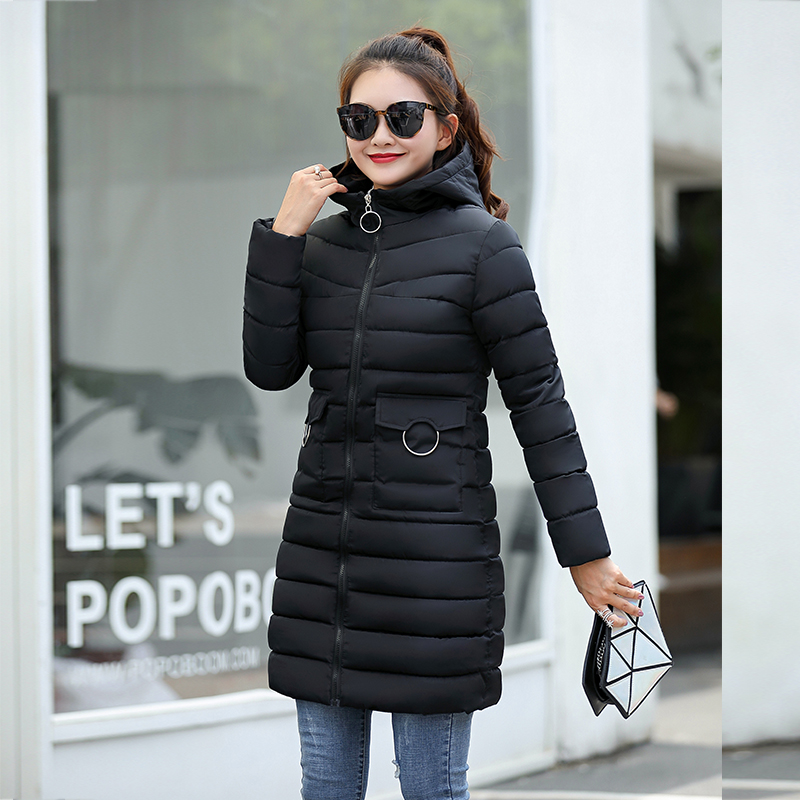 Winter Jacket New Fashion Women Down Jacket Slim Large Size Hooded Jacket Students Women Thick Warm Cotton Outwear #1
