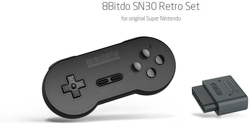 Official 8BitDo Wireless Bluetooth SN30 Retro Set for Nintendo SNES SF C