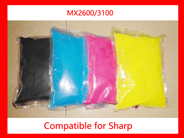 High quality color toner powder compatible for Sharp MX2600 MX3100 MX 2600 3100 Free shipping high quality color toner powder compatible hp cm8060 free shipping