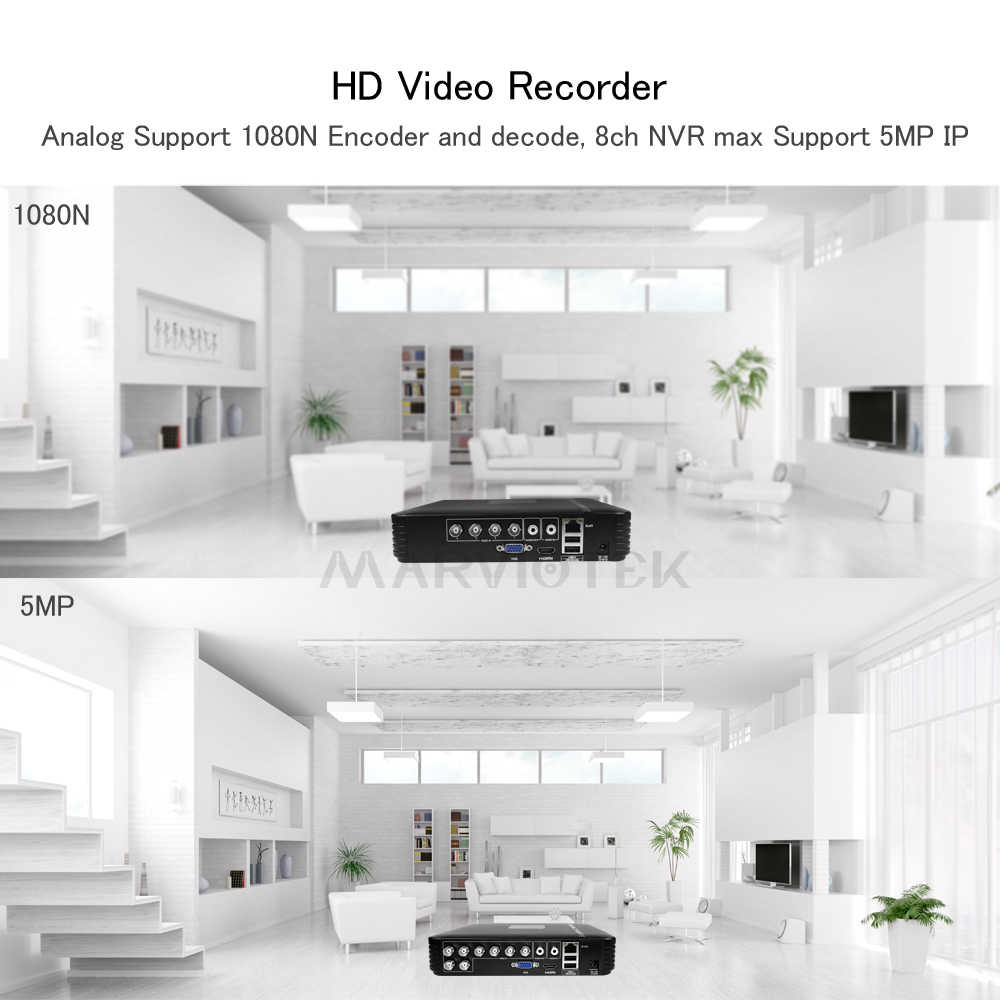 1080P 16CH DVR AHD 1080N CCTV NVR 5 In1 Mini DVR 960P 12CH untuk CCTV Kit Vga HDMI sistem Keamanan untuk Kamera IP PTZ ONVIF 4CH DVR