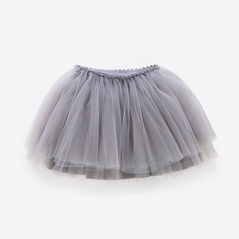 Tutu Skirt Tulle Girls Skirts Knee Length For Kids School Dance Fluffy Red Black Grey Color Princess Style Girls Clothes  12