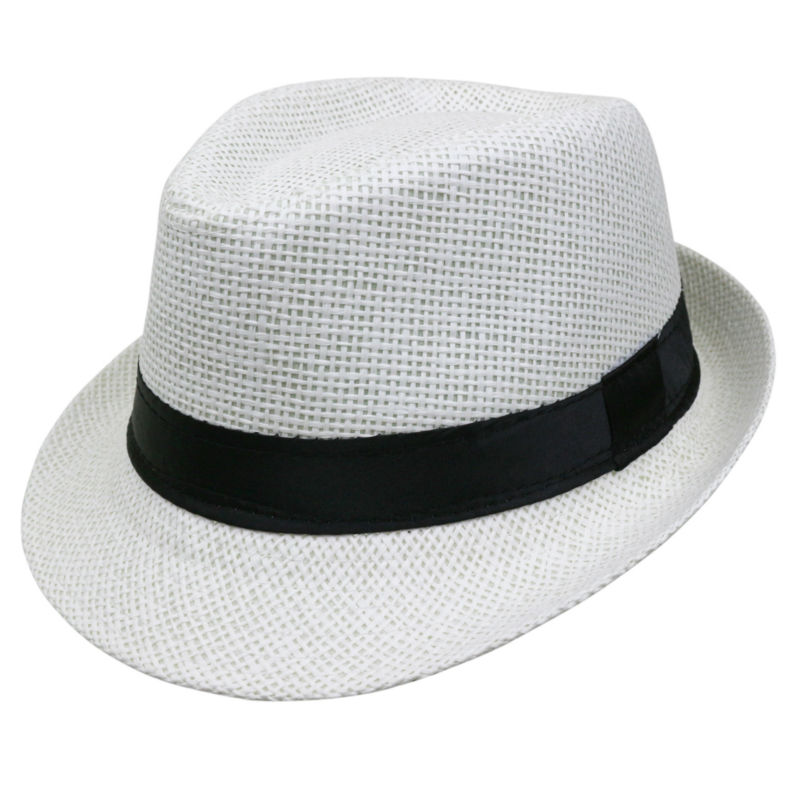 bda6cf6c 2018 Hot sale Summer Style Child sunhat Beach Trilby Sun hat Straw panama  Hat For boy girl Fit For Kids Children 54 cm