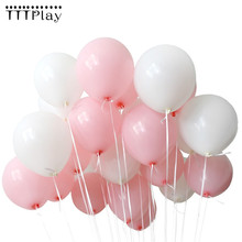 Bebê rosa balões brancos 10 pçs 1.5g látex pérola balões 22 cores decorações de casamento inflável festa aniversário ballon suprimentos