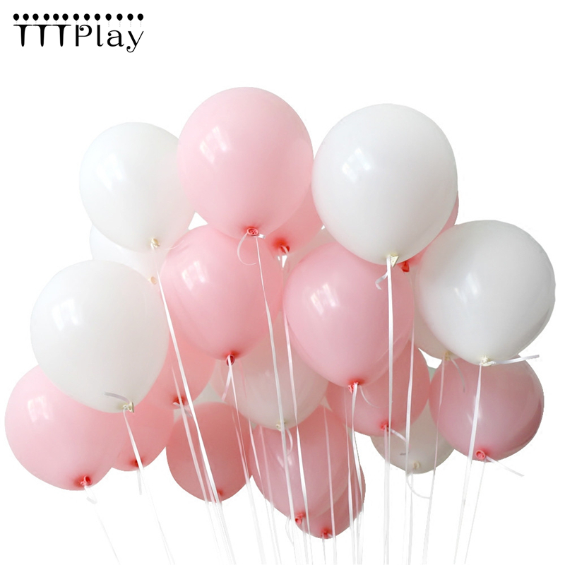 Baby Pink White Balloons 10pcs 1.5g Latex Pearl Balloons <font><b>22</b></font> Colors Inflatable Wedding Decorations <font><b>Birthday</b></font> Party Ballon Supplies image