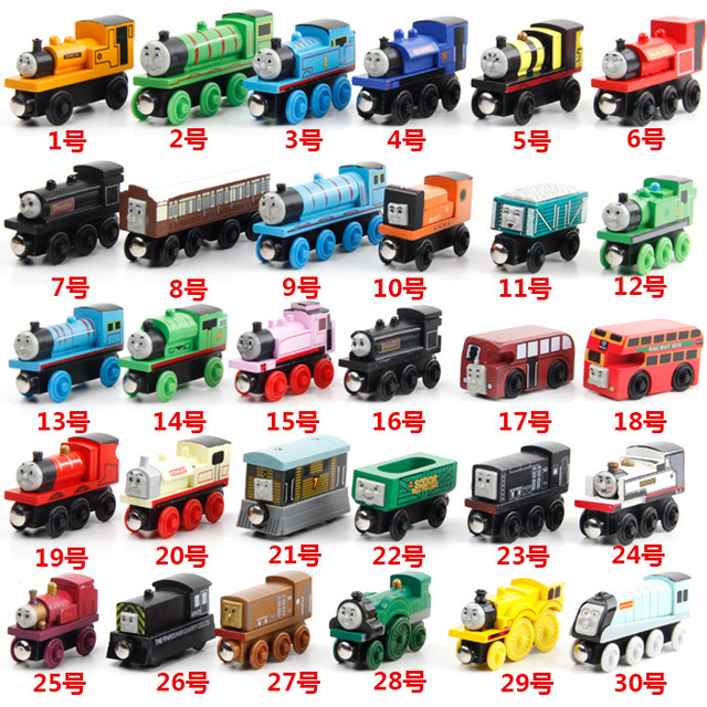Wooden toys thomas train Magnetic thomas and friends Edward James Wooden diecasts Model Train vehicle Christmas Toys - 6pcs/lot