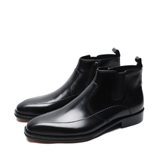 Mens Boots Imported Itlian Leather Zipper Boots