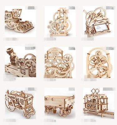 DIY kreatywny pojazd drewniane mechaniczne modelu budynku zestawy montażu Puzzle 3D zabawki edukacyjne dla dzieci chłopcy dziewczęta prezent w Zestawy modelarskie od Zabawki i hobby na  Grupa 1