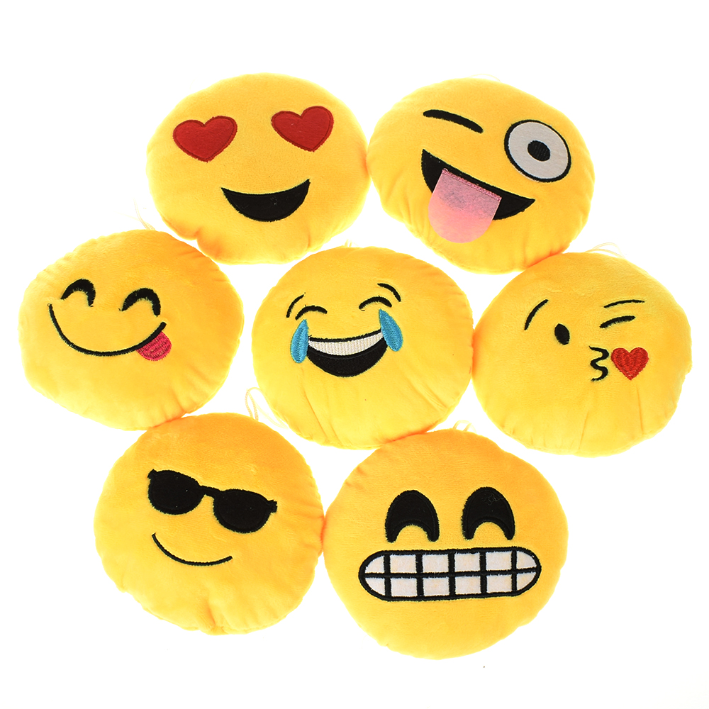 Round Cushion Pillow Doll Hands-Warmer Emoji-Emotion Plush-Toy Gift Soft Home Bed-Decor