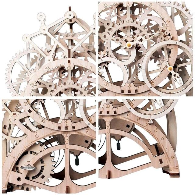 Vintage Home Decor Craft En Bois Pendule Horloge Modèle Kits Décoration 3