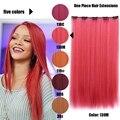 Пять Клип В Наращивание Волос Естественная Прямая Длинные Красный Auburn Шиньоны 5 Цветов 110 г 50 см Дешевой Цене Бесплатно доставка