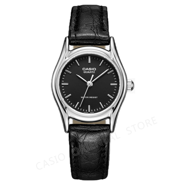 Casio Watch Wanita Mewah Merek Kasual Ultra Tipis Kuarsa Leather Perak  Hadiah Jam 3 Bar Tahan c677ae51e7