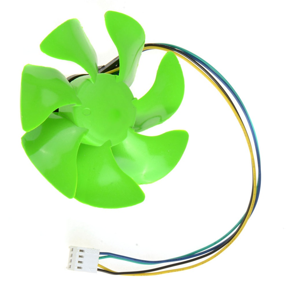 MOOBOM 4 Pin Green 85MM Personal Computer Cooling Fans PC Computer Component Cooler Fan Accessories P20 computador cooling fan replacement for msi twin frozr ii r7770 hd 7770 n460 n560 gtx graphics video card fans pld08010s12hh