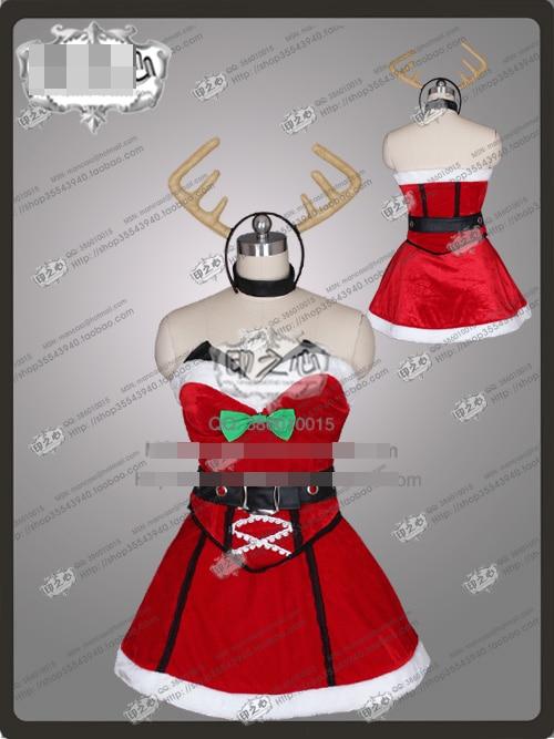 LOL Katarina uniformes de noël Costume Cosplay livraison gratuite + bandeau