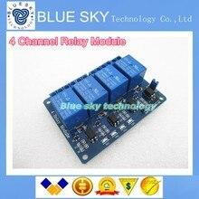 Бесплатная доставка 5 шт. 4 реле канала модуль 4-канальные, пульт управления реле с оптопары