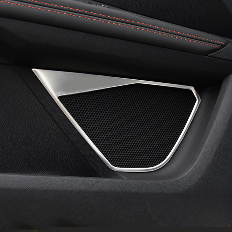 Car Styling Interior Door Speakers Decorative Trim Stainless Steel 4pcs For Peugeot 3008 GT / 5008 GT 2017-2018 брызговики передние и задние кроме gt для peugeot 3008 2017