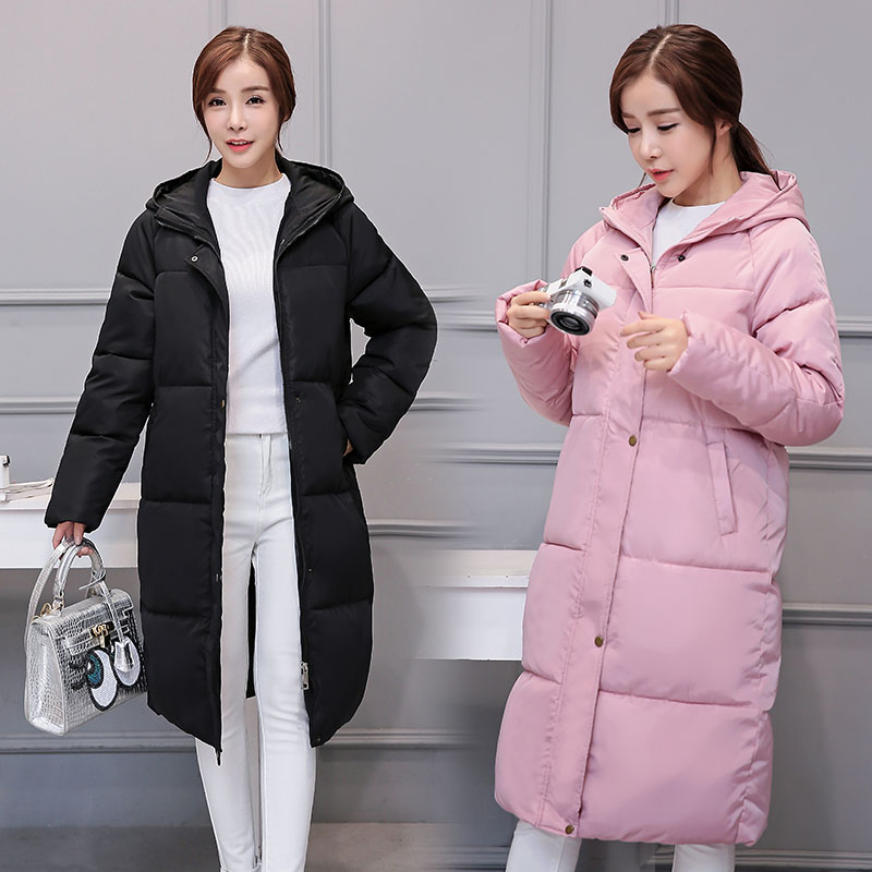 KUYOMENS 2017 Brand Winter Coat Women X-long Plus Size S-XXXL Parka Cotton-Padded Thick Warm Coats Women Wadded Jackets