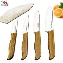 """FINDKING marka üst bambu saplı beyaz bıçak seramik bıçak mutfak gereçleri 3 """"4"""" 5 """"6"""" inç + kapakları"""