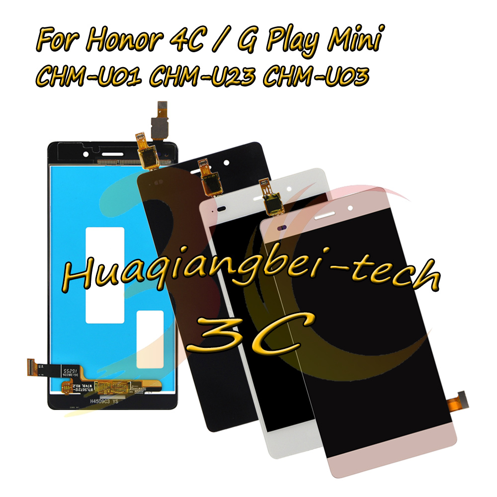 5.0 New For Huawei Honor 4C / G Play Mini CHM-U23 CHM-U03 CHM-U01 Full LCD DIsplay + Touch Screen Digitizer Assembly Tracking