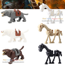 The Lord of the Rings Medieval Knights Single Legoed Wolf Horse Wargs Battle Steed Building Blocks Bricks Children Toys RZ200(China)