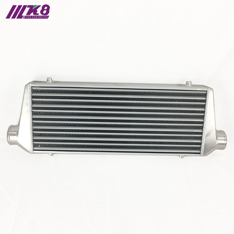 Montaje frontal intercooler 550*230*65mm radiador Turbo universal de barra y placa OD = 2,5