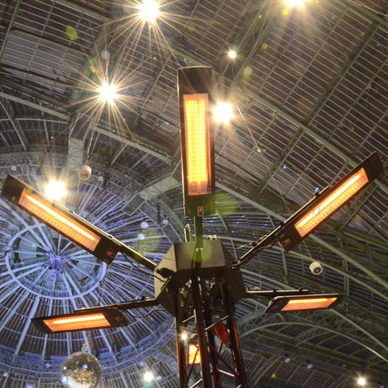 2000 W Infrarouge Chauffe-Lampe 4 Réglage De Puissance Télécommande Extérieure Imperméable Chauffage Électrique Chauffe-Terrasse Mur entre crochets