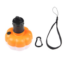 2 Pcs Camping LED Compact Light Bulbs Decorative Portable with Hanging Hook Mini Pumpkin Light for Camping Hiking Outdoor(China)
