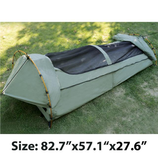 High grade canvas swag 2persons 4seasons waterproof sunscreen night view of the roof ventilation original export to Australia
