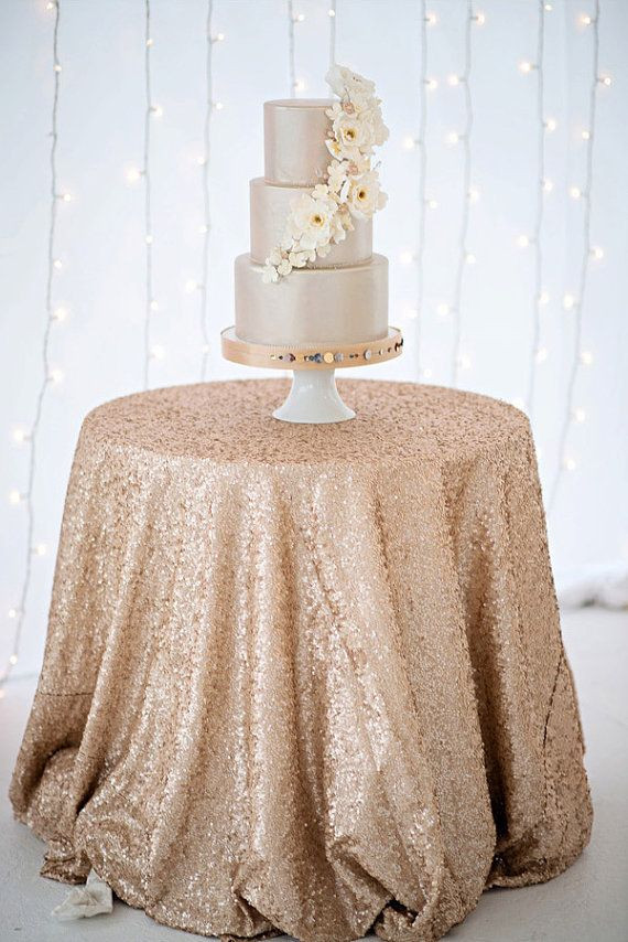 Round Sequin Tablecloth 126