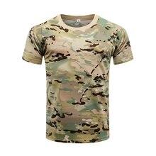 Армейская Военная тактическая рубашка с коротким рукавом камуфляжная Хлопковая мужская быстросохнущая футболка уличная одежда для кемпинга и охоты походные рубашки