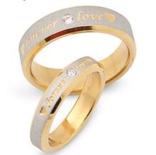 Anneau Lettrage R110ST # Couple Anneaux 2014 Vente De Mode Forever Love En Acier Bijoux Anéis le Anneau