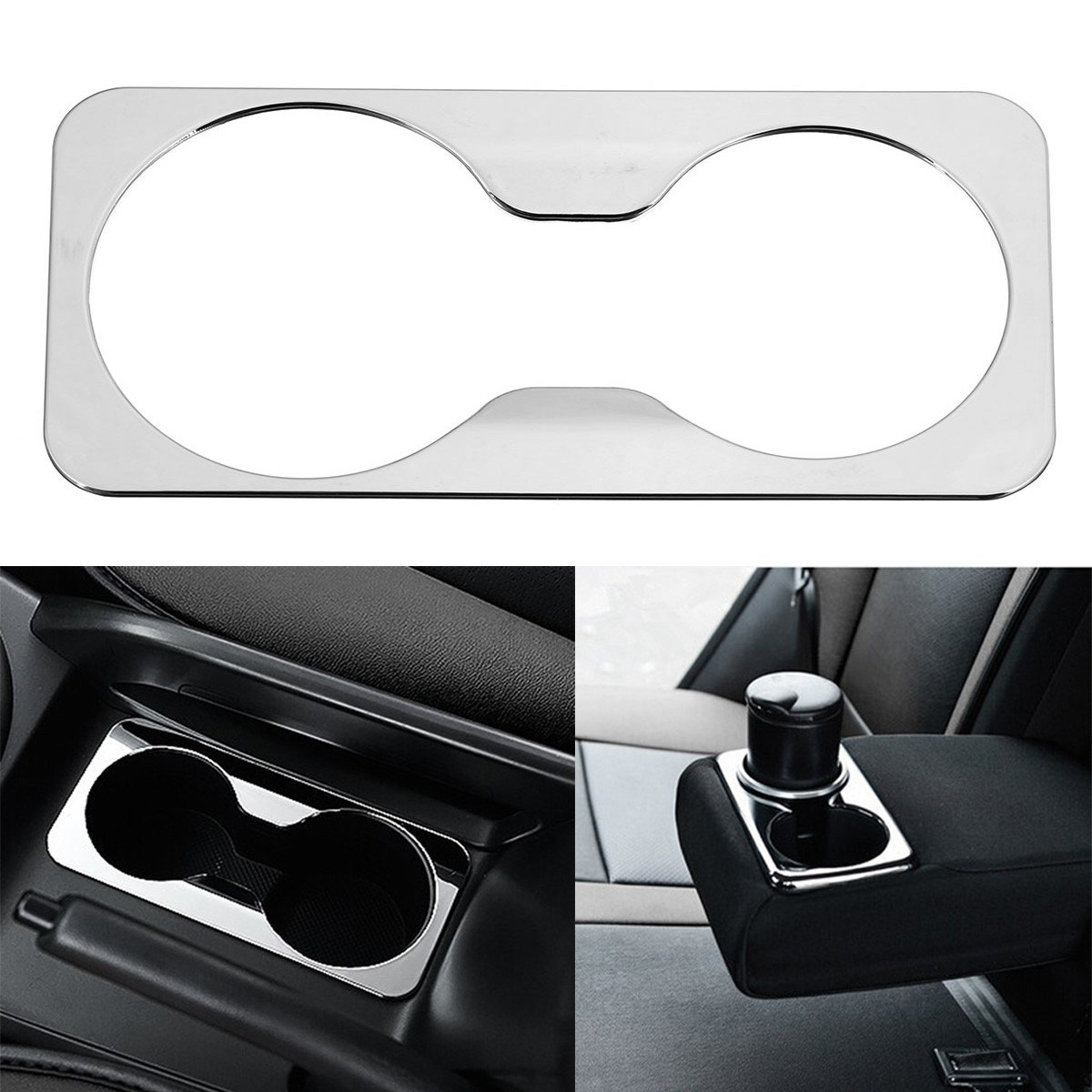 For Kia Sportage R 2012 2013 2014 2015 Front Back Water Cup Decorative Cover Sticker Case ABS Chrome Covers Car Styling цена