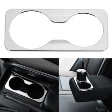 For Kia Sportage R 2012 2013 2014 2015 Front Back Water Cup Decorative Cover Sticker Case ABS Chrome Covers Car Styling