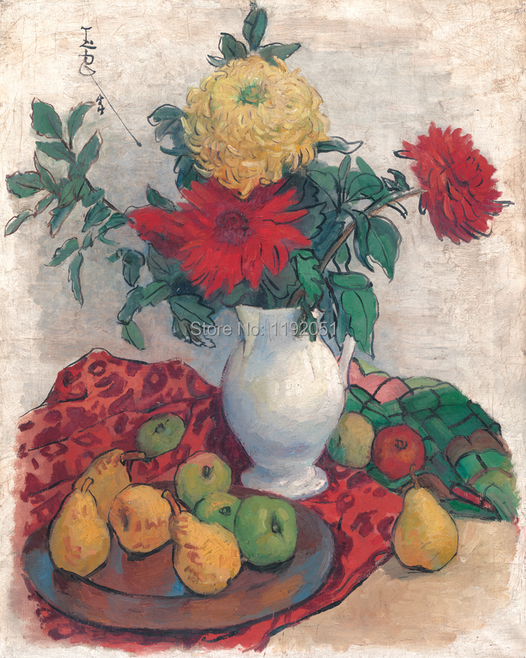 flower painting Chinese paintings contemporary artist masterpiece flowers posters canvas prints flowers and fruits still life