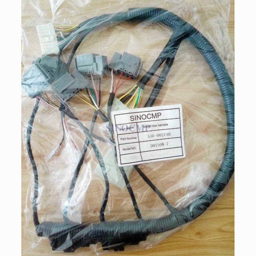 Faisceau de câblage de boîte de commutateur de DH60-7 pour l'excavatrice de Doosan Daewoo 530-00443, garantie de 3 mois