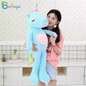 Image 2 - 1pc 60 160cm Kawaii Rainbow Unicorn Plush Toys Stuffed Animal Horse Plush Doll for Children Kids Appease Toy Gift for Girls