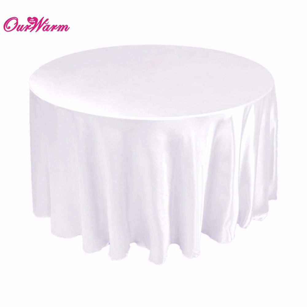 White round tablecloths cheap - Aliexpress Com Buy 90 Tablecloth Table Cover White Black Round Satin For Banquet Wedding Party Decoration From Reliable Table Cover Suppliers On Romantic