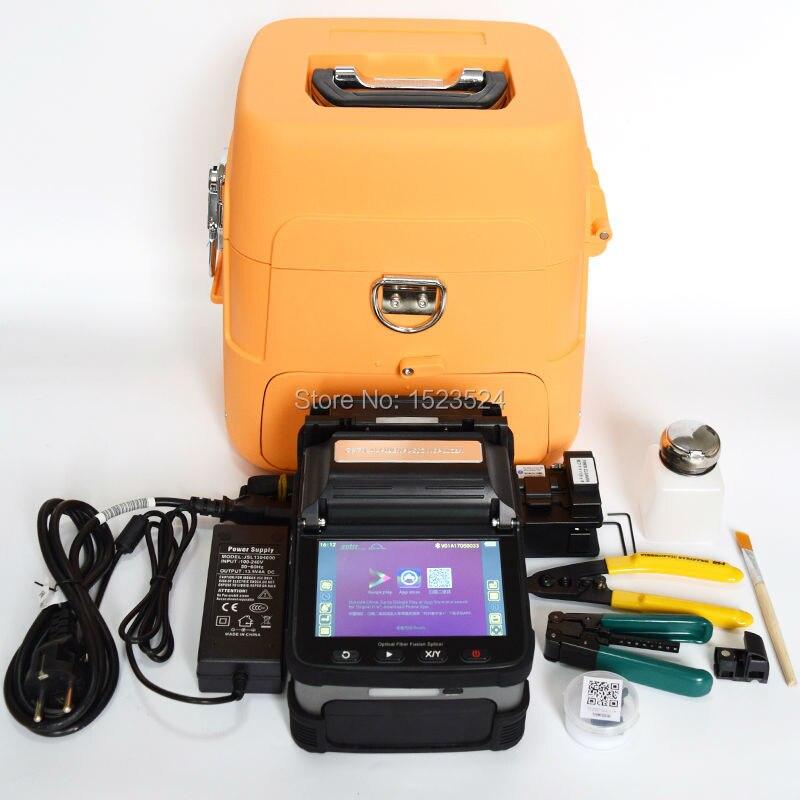 Sm и мм автоматическое шесть Двигатели интеллектуальные FTTH Волокно-оптический Сращивание машины оптический Волокно сварочный аппарат
