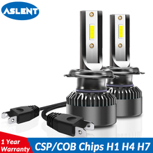 Aslent 2pcs Super mini size H4 LED 9005 HB3 9006 HB4 H7 H11 H8 H1 Car Headlight Bulbs 72W 8000LM 6000K COB light Auto Lamp 12v