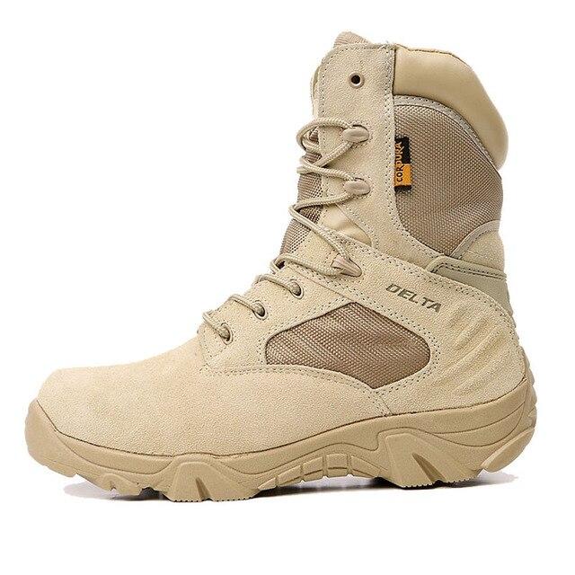 Лето мужская Пустынный Камуфляж Военная Тактическая Сапоги Мужчины Открытый Боевые Армейские Ботинки Sapatos Masculino Botas Militares