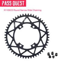 PASS QUEST Black 110BCD MTB Round Road Bike Narrow Wide Chainring Bike Chainwheel For 5800 6800 4700 R7000 R8000 DA9100